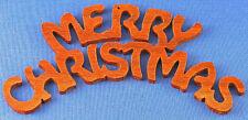 Merry Christmas - Christmas Ornament - hand cut
