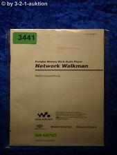 Sony Bedienungsanleitung NW MS70D Network Walkman (#3441)