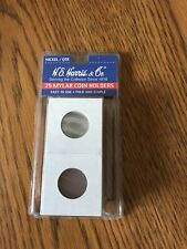 H E Harris & Co Mylar Coin Holders Pack Of 25 New Nickel Or Quarter Size