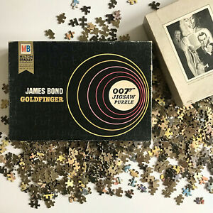 Vintage 1965 JAMES BOND 007 GOLDFINGER Milton Bradley Jigsaw Puzzle 1000+ Pieces