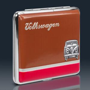 VW Bulli T1 Zigarettenetui | BRAUN ROT Metall | Volkswagen Lizenzware | Samba