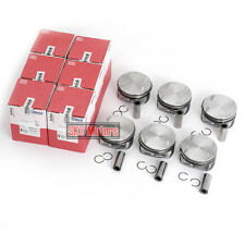 6x MAHLE Pistons Rings 92.6mm Set For Mercedes-Benz C350 W204 E350 W211 S350 3.5