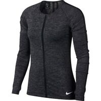 Nike  S Women's Pro HYPERCOOL LS Top w Thumbholes NEW  889631- 010 Black Heather