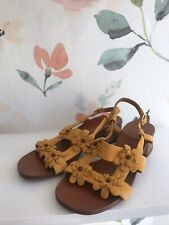 New Chie Mihara Quesia Sandals Size 37- Yellow
