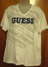 GUESS JEANS lrg V-neck tee '80s Marciano logo vtg Old Glory flag T shirt patriot