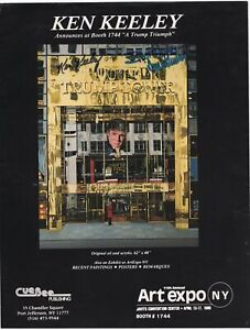 Donald Trump - U.S. President - Early Vintage Autograph on 1989 Art Flyer