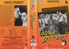 42ND STREET - Warner Baxter -VHS -PAL -NEW - Never played! - Original Oz release