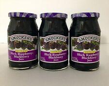 Smucker's Black Raspberry -Blackberry Jam.3 Pack