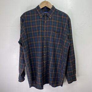 Sir Pendleton Men's XXL Long Plaid Flannel Pure Wool Button Shirt Multicolor