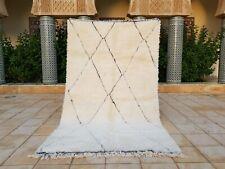 "Beni ourain Rug  8'6""x4'11"" Ft Moroccan Rug Handmade Wool Carpet, Azilal Rug"