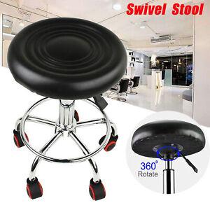 Tabouret à roulettes avec pied en acier pivotable à 360° réglable à Roulettes H