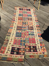 Very Rare Anatolian Aleppo Gaziantep Turkish Kilim c.1850s Superb Natural Dyes