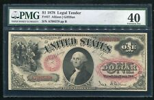 FR. 27 1878 $1 LEGAL TENDER UNITED STATES NOTE PMG EXTREMELY FINE-40