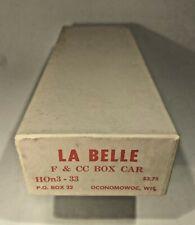 Vintage La Belle 33 F&CC HOn3 The Gold Belt Line Box Car Kit  588  HOn3-33