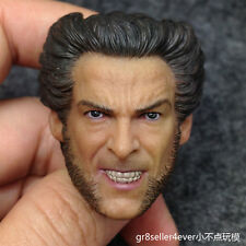 Custom made Hot 1/6 scale Head Sculpt Angry Wolverine Hugh Jackman X-Men Toys