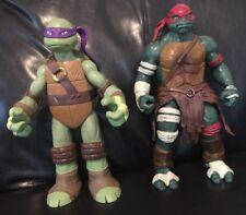 """Teenage Mutant Ninja Turtles 11"""" Figures - Donatello & Raphael - 2012"""