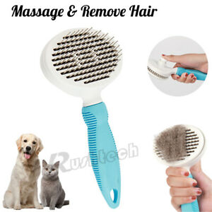 Pet Hair Remover Dog Cat Comb Grooming Massage Deshedding Self Cleaning Brush