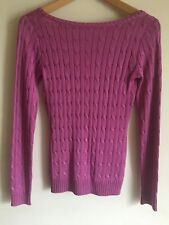 Ralph Lauren Black Label Pink Cable Knit 100% Silk Low Back Jumper