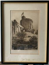 More details for axel herman haig (swedish) windsor castle etching signed in pencil 1887