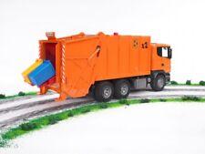 Bruder 03560 SCANIA R-Serie Müll-LKW orange Müllauto 1:16