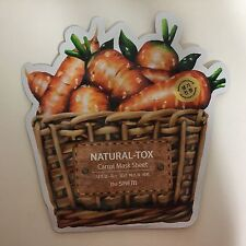 1 SHEET THE SAEM NATURAL-TOX CARROT MASK SHEET VITALIZING & SOOTHING