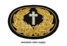 Civil War Embroidered Chaplain's Cross Large Hat Cap Kepi Badge Patch Insignia