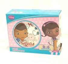New Disney Doc McStuffins 3 Pc. Ceramic Dinnerware Set - NIB