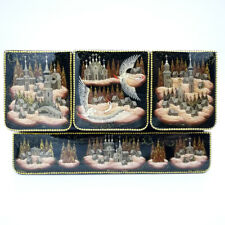 """Large Lacquer box """"Russian North"""" Excellent Author's Work Hand Painted #149-3"""