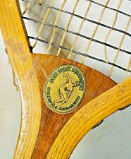 """Ross Sport Equipment """"Fairfield"""" Antique Tennis Racquet - """"Discus Thrower"""" Logo"""