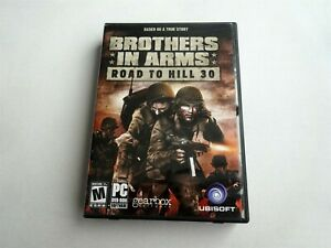PC Brothers in Arms Roads to Hill 30 (2005) Complete w/ Case Manual Map Disc Key