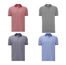 Paul rosas Men camiseta polo con cuello de contraste caballeros talla L
