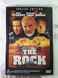 THE ROCK DVD Sean Connery  Movie Nicolas Cage R18+ Movie - REGION 4 AUSTRALIA