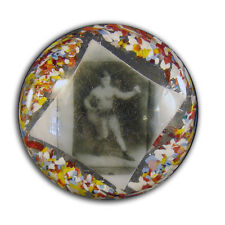 Glass Paper Weight with Boxer