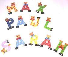 Holz Buchstaben Kinderzimmer Tür Bären bunt Türschild Alphabet ABC Holzzahlen