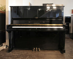 A 1991, Yamaha U30A upright piano with fitted Disklavier MX100 player system