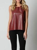 Piper Ladies Fashion Sleeveless Top sizes 12 14 16 Colour Burgundy