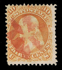 GENUINE SCOTT #100 USED 30¢ WITH RED CORK CANCEL WELL DEFINED F-GRILL SCV $1120