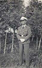 WWII Original German Luftwaffe Photo- Dress Uniform- White Formal Hat- Gloves