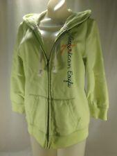 American Eagle Citron Lime Green Fleece Hooded Sweatshirt Hoodie 3/4 Sleeve L