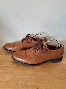 Mens Jones Tan Leather Shoes Size 9