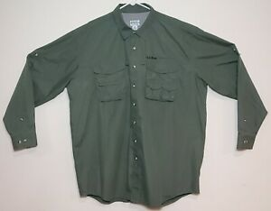 LL Bean Buzz Off Insect Shield Fishing Kennebago Button New / Tag Size XXL Tall
