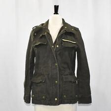H&M Olive Green Khaki Military Utility Jacket SIZE 8 Med Women's