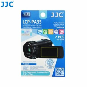 """JJC LCP-PA35 Film Screen Display Protector for Panasonic 3.5"""" LCD Camcorders x2"""