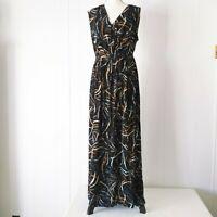 NEW Plus Size Printed Sleeveless Maxi Dress Black Ava & Viv Womens X 1X 2X 3X 4X