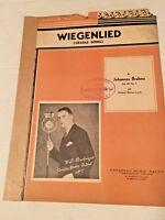 """Vintage Sheet Music  """"Wiegenlied"""" (Cradle Song) by Johannes Brahms German Lyrics"""