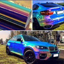 Holographic Blue Rainbow Chrome Car Body Sticker Vinyl Wrap Tint Film 50x135cm