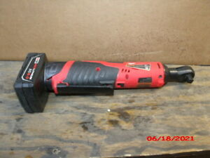 """milwaukee 2457-20 m12 12v 3/8""""cordless ratchet with 6.0 AH battery"""
