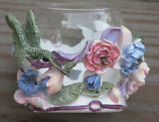 RARE ~ VALERIE PFEIFFER Hand Painted Candle Holder Innovation 1990's ~SHIPS FREE