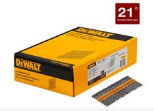 Dewalt 3 x 0.131 inch Framing Nail Gun Nailer Tool 2000 Collated Nails 21 Degree