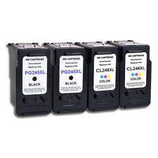 4pk Combo For Canon PG-245XL & CL-246XL Ink Cartridge PIXMA MG2420 MG2450 MG2520